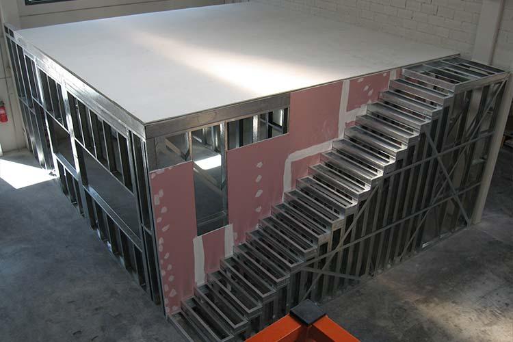 Construcci n de unas oficinas en una nave industrial for Oficinas industriales